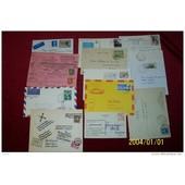 Lot De 13 Lettres Du Monde � Destination Diverses