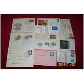 Lot De 10 Lettres Du Monde � Destination Diverses