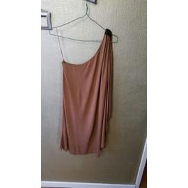 Robe Bershka Asym�trique 40 Marron