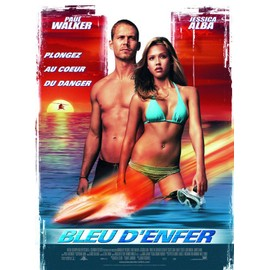 Bleu D'enfer / Into The Blue - Affiche Originale De Cin�ma, Format 120x160 Cm - Un Film De John Stockwell Avec Paul Walker, Jessica Alba, Scott Caan, Ashley Scott, Josh Brolin, James Frain, Ann�e 2005
