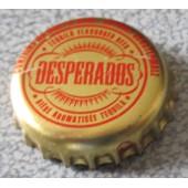 Capsule De Bi�re Desperados - Ecriture Rouge Sur Fond Or