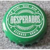 Capsule De Bi�re Desperados - �criture Blanche Sur Fond Vert
