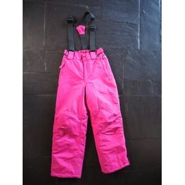 Pantalon De Ski Go Sport 10 Ans Rose Avec Bretelles