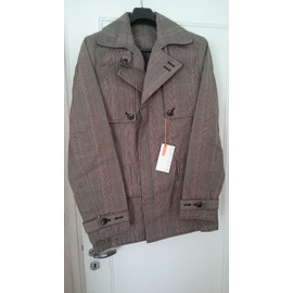 Trench Soft Grey Prince De Galles - Taille 50