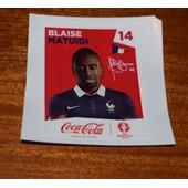Panini Foot Uefa Euro France 2016 (Sticker Coca Cola) .Blaise Matuidi