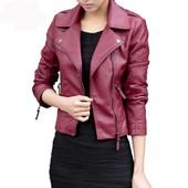 Femme Jacket Cuir Pu Veste Mode