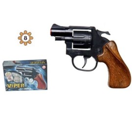 Jouet Pistolet Revolver New Viper + Amorce 8 Coups - 11,5cm - 989