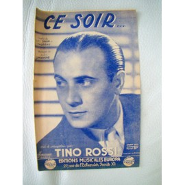 Ce soir - partition - Tino Rossi -