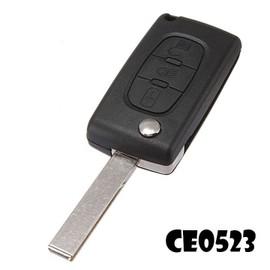 Cle Plip Pour Citroen 3 Boutons Phare C1 C2 C3 C4 C5 C6 C8 Modèle Ce0523 Lame Avec Rainure Coque Telecommande @Pro-Plip