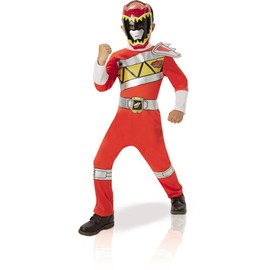 D�guisement Power Ranger Rouge - Dino Charge - Taille 7/9 Ans (120 � 132 Cm)