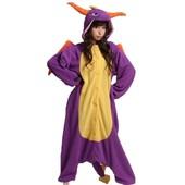 Unisexe Anime Halloween Cosplay Adulte Kigurumi Pyjama Onesie Costume De Deguisement Combinaison Purple Dragon