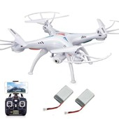 Cam�ra Blanc Syma X5sw 2.4ghz Rc Quadcopter 2mp Wifi Fpv + 2 Batterie