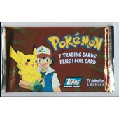 Booster Pokemon Topps - 7 Trading Cards Plus 1 Foil Card