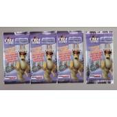L'�ge De Glace Cartes Intermarch� - Lot 4 Paquets Sous Blisters Ferm�s Contenant 3 Cartes Chacun
