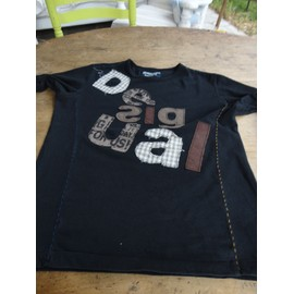 T-Shirt Desigual Happy Coton S Noir