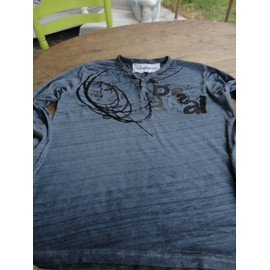 T-Shirt Desigual We Love Coton M Bleu