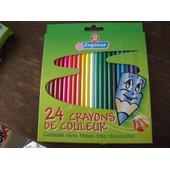 24 Crayon De Couleur Marque Rep�re