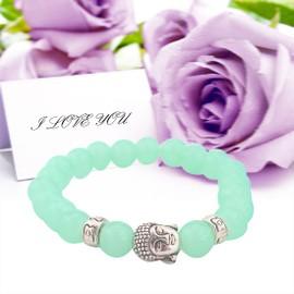 Mode De Couleur En Natural Or Stone Perles Bracelet Bouddha Turquoise Bracelet Pulseras Mujer