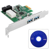 Xcsource 3 Ports Pci-E � Usb 3.0 Carte D'extension - Interface Usb 3.0 3 Ports Pci-Express Carte D'extension Avec 19 Broches Sata Connecteur D'alimentation Pour Windows Xp / Vista / 7/8 Ac319