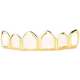 Grillz - Gold - One Size Fits All - Hollow Top