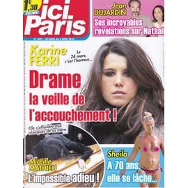 Ici Paris 3691 - Karine Ferri / Sheila / Mireille Mathieu / Jean Dujardin