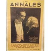 Les Annales 25 Novembre 1934
