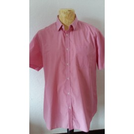 Chemise Jules Taille 45 / 46 A Rayures Rose Et Blanc