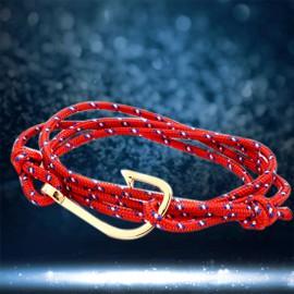 Mode Poisson Plaqu� Or Crochet Bracelet Pour Femmes Hommes Paracord Nylon Cordes