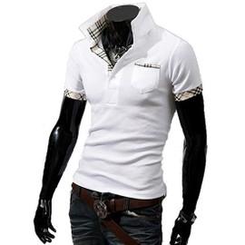 Polo Homme T Shirt Manches Courtes Fashion Mode Col En V Look Branch� Classe Et Tendance