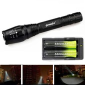 Zoomables 4000 Lumen 5 Modes Cree Xml T6 Led Lampe Torche Lumi�re 18650 Chargeur