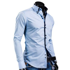 Hommes Mode Luxe T-Shirt Chemise Tops Manches Longues