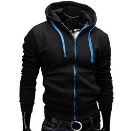 Fashion Hommes Slim V�tement Sportif Veste Manches Longues A Capuche