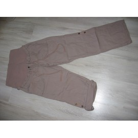 Pantalon De Grossesse Retroussable En Pantacourt T40 Marron
