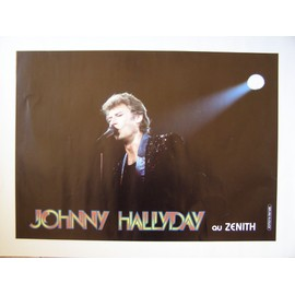 JOHNNY HALLYDAY AFFICHE CONCERT ZENITH 40 x 65 cm