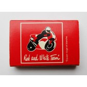 Boite D'allumettes Red And White Team Moto