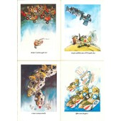 Lot De 4 Cartes Postales Usa (Avions-Humour)