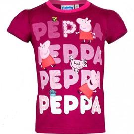T Shirt Manches Courtes Enfant Disney Peppa Pig Fushia