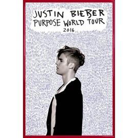 Poster encadré: Justin Bieber - Purpose World Tour 2016 (91x61 cm), Cadre Plastique, Rouge