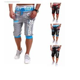 Pantalons Courts Pour Hommes Pantalons De Sport Mens Lettre De Style Hip-Hop Estampage