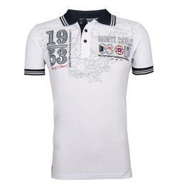 Polo Geographical Norway Karoubia Blanc