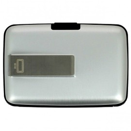 Porte Carte Money Clip Ogon Design, Silver