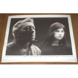 POSTER PHOTO SERGE ET CHARLOTTE GAINSBOURG