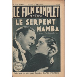 Le Film Complet N� 1471 : Le Serpent Mamba, Avec Lionel Atwill