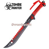Machette Red Zombie Hunter Epee Courte Zb-124rd Coupe Coupe Sabre