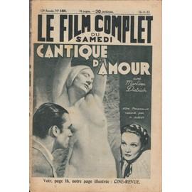 Le Film Complet N� 1406 : Cantique D'amour, Avec Marlene Dietrich