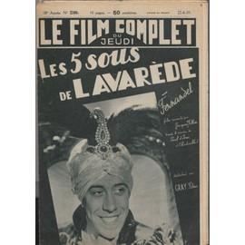 Le Film Complet N� 2280 : Les 5 Sous De Lavar�de, Avec Fernandel