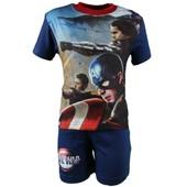 Captain America Short Avec T-Shirt Manches Courtes Gar�on Civil War - Petite Frappe