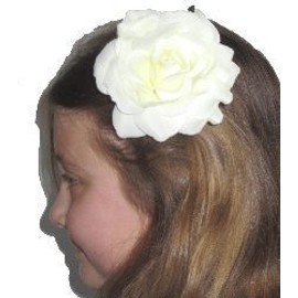 Fleur Broche Carmen Blanche 10 Cm