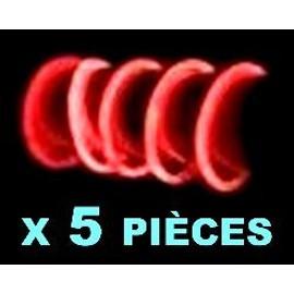 5 Bracelets Fluo Rouges