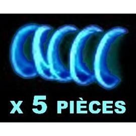5 Bracelets Fluo Bleus